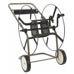 Slanghaspelwagen staal grijs/zwart