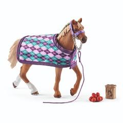 Schleich 42360 - Paard Engelse Volbloed Met Deken