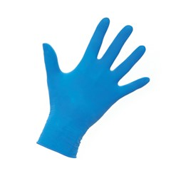 Werkhandschoenen latex blauw poedervrij AQL 1,5 - 100 stuks