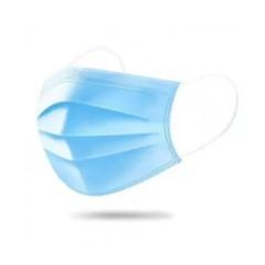 Zefran mondmasker 3 laags blauw met elastiek, 50 stuks