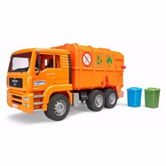 Bruder 02760 - MAN TGS Vuilniswagen (Oranje) 1:16