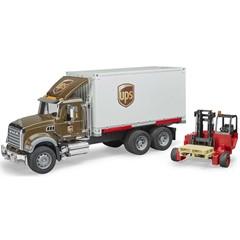 Bruder 02828 - Mack Granite UPS met Vorkheftruck 1:16
