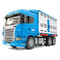 Bruder 03549 - Scania R-Series Veetransportwagen + Koe 1:16