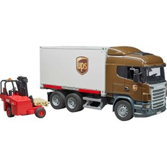 Bruder 03581 - Scania R-Series UPS met Vorkheftruck 1:16