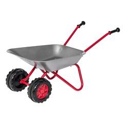 Rolly Toys - Stalen Kruiwagen Zilver/rood