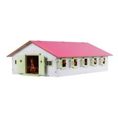 Kids Globe 610188 - Paardenstal met 9 Boxen 1:32