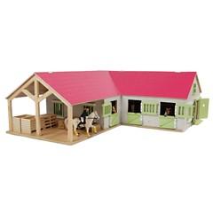 Kids Globe 362167 - Paardenstal Met 3 Boxen 1:24