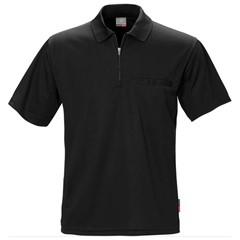 Fristads Kansas Poloshirt met Rits Coolmax PF-718 Zwart
