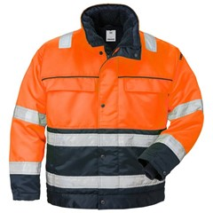 Fristads Hi-Vis Winterjack 444 PP Oranje/Marine