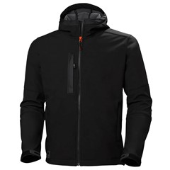 Helly Hansen Softshell Jas Kensington Hooded Zwart