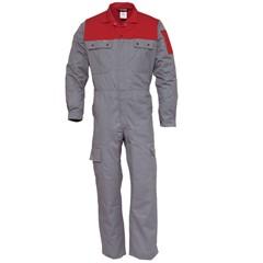 Havep 2OOO Katoen/Polyester Overall 2418 Grijs/Rood