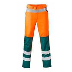 HaVeP High Visibility Werkbroek 8410 Kleur Fluor oranje/groen