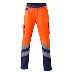 HaVeP Werkbroek High Visibility 8704 Fluor oranje/marine