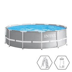 Intex Prism Frame Zwembad - Ø 366 x 99 cm - Met Zwembadpomp