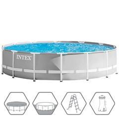 Intex Prism Frame Zwembad - Ø427 x 107 cm - Met Zwembadpomp