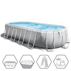 Intex Prism Oval Frame Zwembad 610 x 305 x 122 cm - Met Zwembadpomp