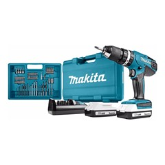 Makita HP457DWE10 Combi boor Li-ion met 2 batterijen 18V