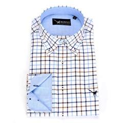 Mongo Heren Overhemd Burton 01 Korte Mouw