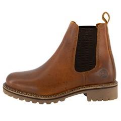 Travelin' Dames Boot Chelsea Skjern Cognac