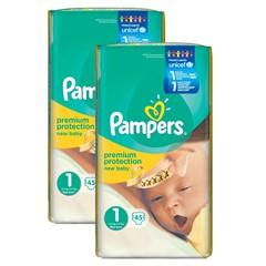 Pampers New Baby Maat 1, 3x45 Stuks