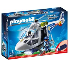 PLAYMOBIL City Action 6921 - Politiehelikopter met LED-zoeklicht