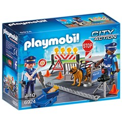 PLAYMOBIL City Action 6924 - Politie wegversperring