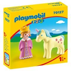 PLAYMOBIL 1.2.3 70127 - Prinses en eenhoorn
