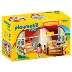 PLAYMOBIL 1.2.3 70180 - Mijn meeneem manege