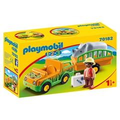 PLAYMOBIL 1.2.3 70182 - Dierenverzorger met neushoorn