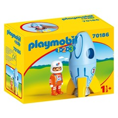 PLAYMOBIL 1.2.3 70186 - Astronaut met raket