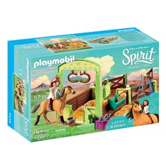 PLAYMOBIL Spirit Riding Free 9478 - Lucky & Spirit met paardenbox