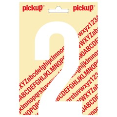 Pickup Plakcijfer Nobel 150mm Wit 2