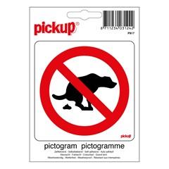 Pickup Pictogram 10x10cm Hier Geen Hondepoep