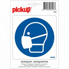 Pickup Sticker Mondkapje Dragen Verplicht 100 x 100 MM