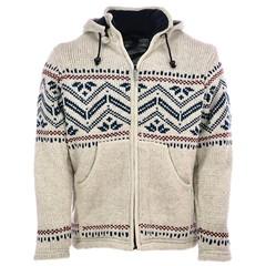 Pure Wool Vest WJK-1314 Gebroken Wit
