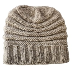Pure Wool Muts Half Gevoerd PA1901 Ecru One Size