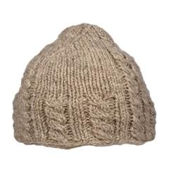Pure Wool Beanie Gevoerd Ecru One Size