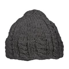 Pure Wool Beanie Gevoerd Antraciet One Size