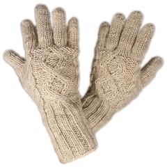 Pure Wool Handschoenen Gevoerd PA1909 Ecru One Size
