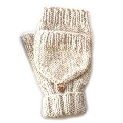 Pure Wool Wanten Gevoerd PA1910 Ecru One Size