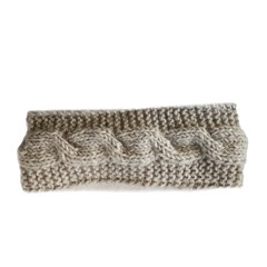 Pure Wool Hoofdband Gevoerd Ecru One Size