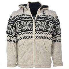 Pure Wool Vest WJK-1301 Ecru