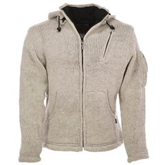 Pure Wool Vest WJK-1323 Ecru