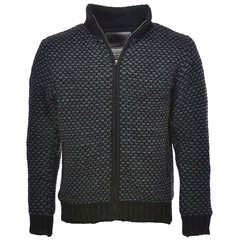 Pure Wool Vest YWJK-1521 Zwart/Grijs