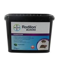 Rodilon Blocks (Knaagblokken) tegen Muis en Rat - 3 Kg