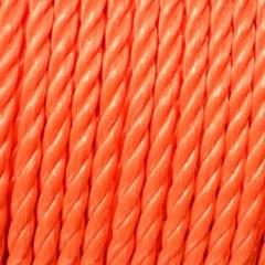 Touw polypropyleen 3 strengs oranje 220 meter