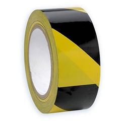 Tape geel/zwart voor magazijn 50 mm, 33 meter