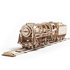 Ugears Modelbouw - Stoomlocomotief met wagon