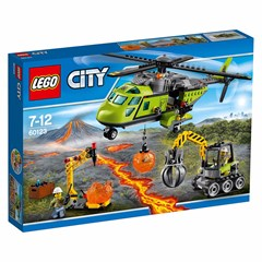 LEGO City 60123 - Vulkaan bevoorradingshelikopter