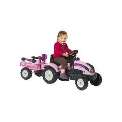Falk Traptractor Pink met Aanhanger